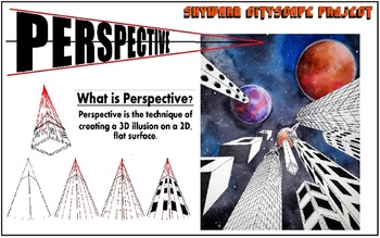 One-Point Perspective: Skyward Cityscape Project