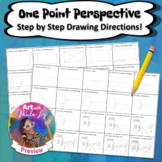 One Point Perspective: Step by Step Drawing Directions