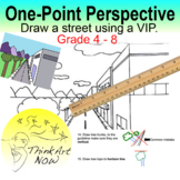 Art Lesson - Draw One Point Perspective Street - Think Art Now