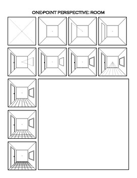 One Point Perspective Worksheet A Room by Dawn Pedersen ...