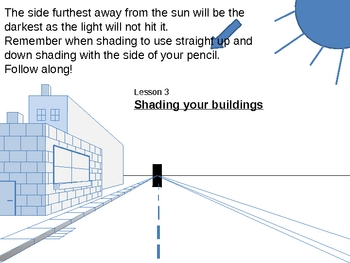 One Point Perspective draw along tutorial power point