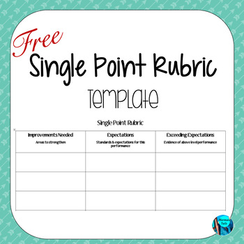 One-Point Rubric Template