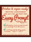 Essay Prompt: One passage, three prompts, ready to print!
