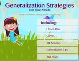 One Quiet Minute Generalization Strategies