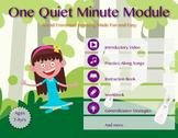 One Quiet Minute Bundle | Self Regulation, Classroom / Behavior Management