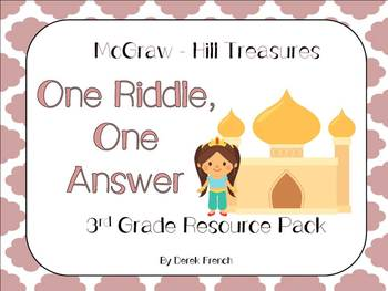 One Riddle, One Answer McGraw-Hill Treasures 3rd Grade Resource Pack