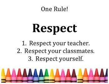 One Rule...Respect