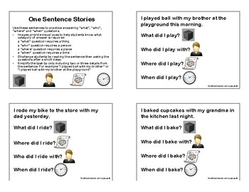 One Sentence Stories