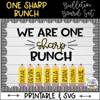 One Sharp Bunch Bulletin Board-Back to School-Convert to SVG
