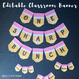One Sharp Bunch Editable Classroom Banner