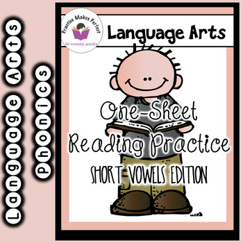 One Sheet Reading Practice Volume 1 - Short Vowels