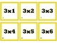 One-Sided Multiplication Flash Cards