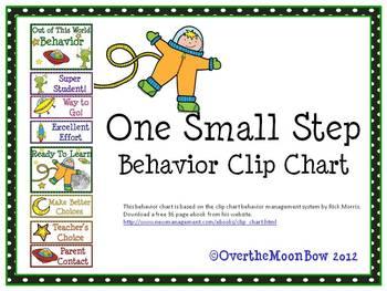 One Small Step Behavior Clip Chart