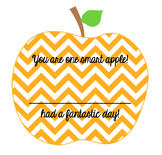 One Smart Apple Decal