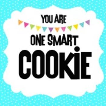 One Smart Cookie Label in AQUA