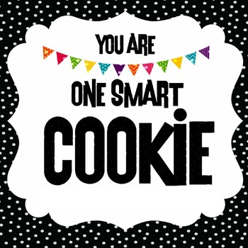 One Smart Cookie Label in BLACK WITH POPS OF COLOR