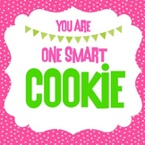 One Smart Cookie Label in PINK & GREEN