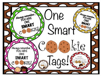 photograph about You're One Smart Cookie Printable named Youre Just one Clever Cookie Tag Worksheets Schooling Components TpT