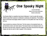 One Spooky Night Halloween Interactive Book Preschool Language