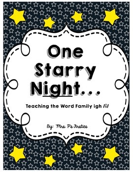 One Starry Night ... Teaching igh
