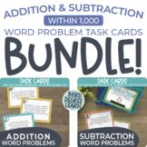 One-Step 3-Digit Addition & Subtraction Word Problem Task