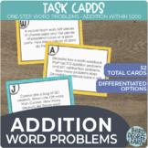 One-Step 3-Digit Addition Word Problem Task Cards