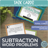 One-Step 3-Digit Subtraction Word Problem Task Cards