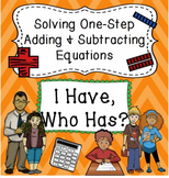 One Step Adding and Subtracting Equations