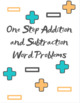 One Step Addition and Subtraction Word Problems