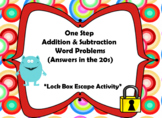 One Step Addition and Subtraction Word Problems-Lock Box E