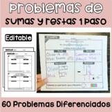 Problemas de Sumas y Restas | Addition and Subtraction Spa