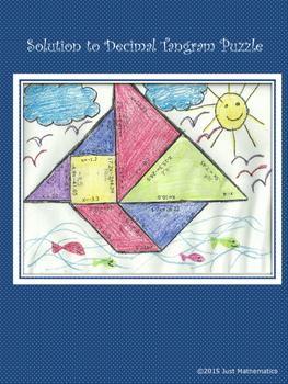 One Step Equation Tangram (Decimal)