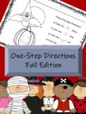 One-Step Direction Activities *Fall Edition