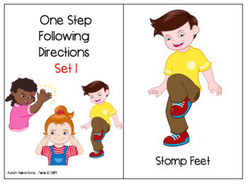 One Step Directions- Sets 1-4
