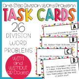 One-Step Division Word Problem Task Cards
