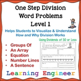 Division Word Problems: One Step Equations for Math Problem Solving