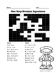 One Step Equations Crossword