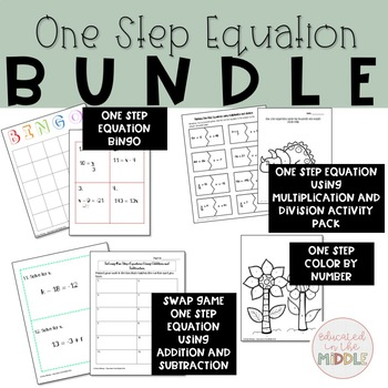 One Step Equation Activities