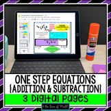 One Step Equation Digital Lesson Addition and Subtraction