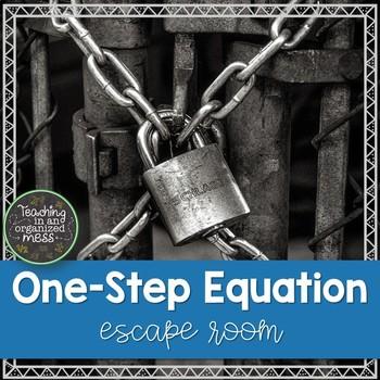 One Step Equation Escape Room