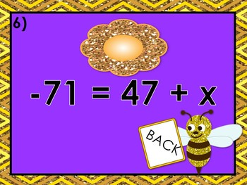 One Step Equation: Flower Mania PowerPoint Game