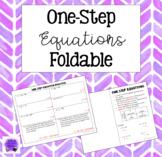 One-Step Equation Foldable