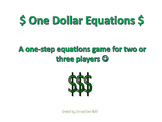 One-Step Equation Game