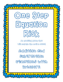 One Step Equation Game