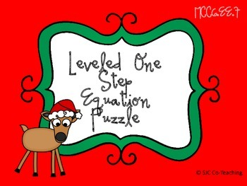 One-Step Equation Holiday Puzzle