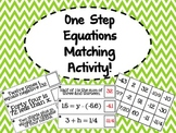 One Step Equation Matching Activity