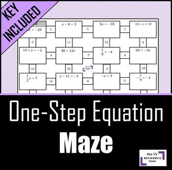 One Step Equation Maze