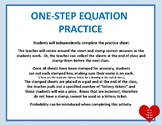 One-Step Equation Practice Activity