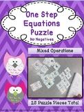 One Step Equation Puzzle: No Negatives
