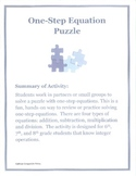 One-Step Equation Puzzle